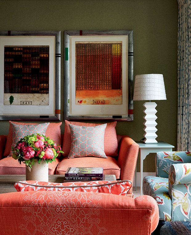 6 Colorful Spaces To Covet By Brit Designer Kit Kemp Living Room