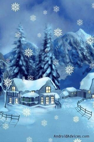live christmas wallpaper with physics snowflakes - Live Christmas Wallpaper Android
