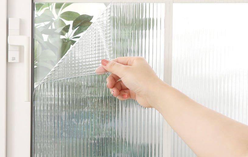 最短 翌日出荷 飛散防止窓ガラスフィルム アンティークガラス調