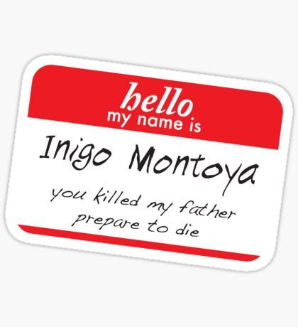 Image result for hello i'm inigo sticker