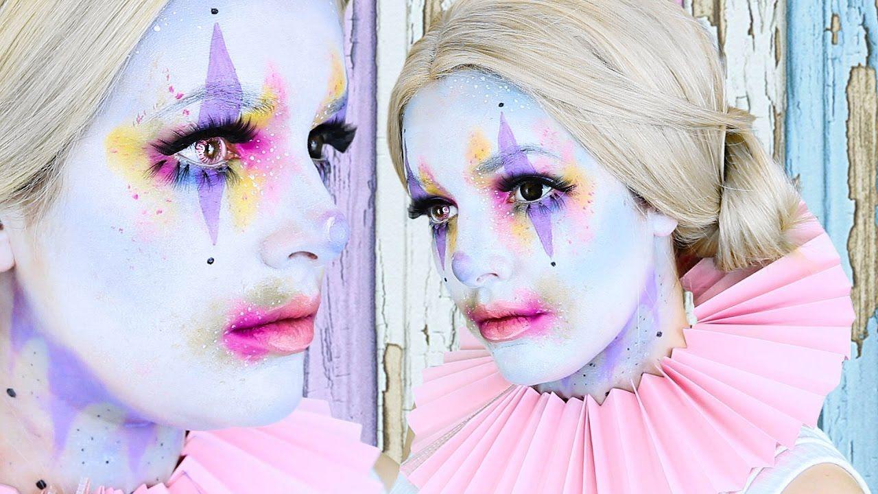 CUTE CLOWN Halloween Makeup Tutorial Cherry Wallis