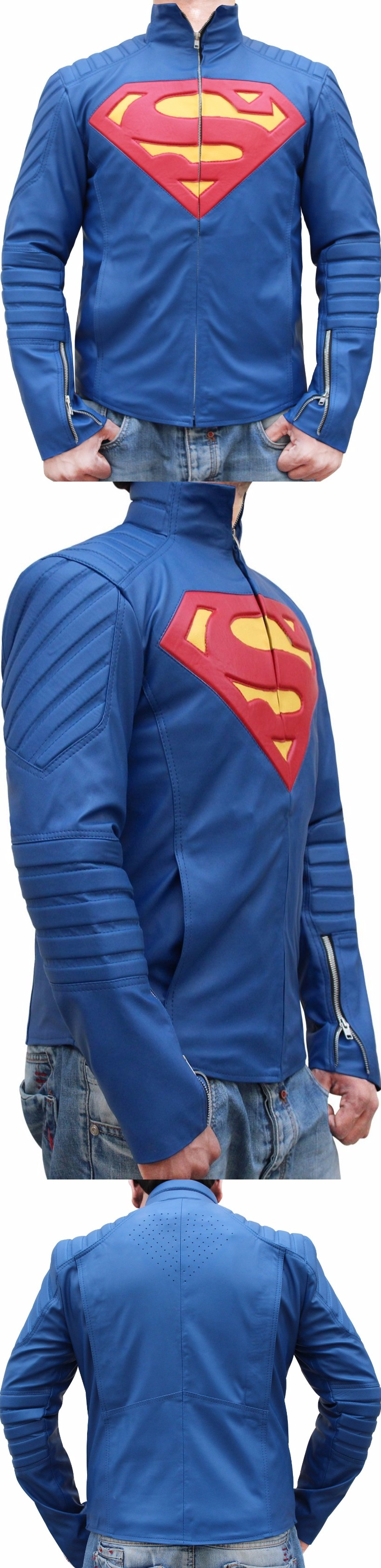 This terrific Superman jacket worn by Henry Cavill as
