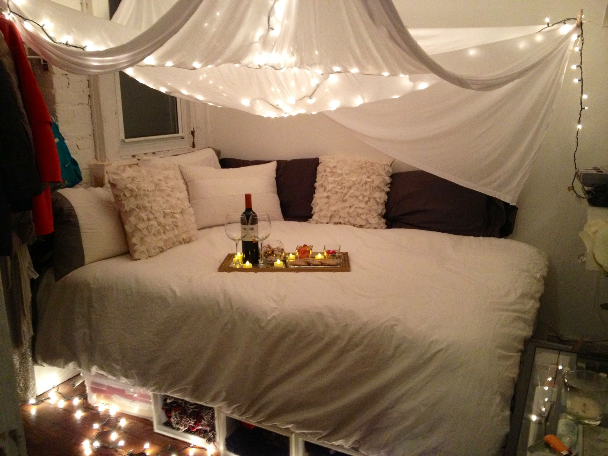 Romantic Cushions And Lighting On Pinterest