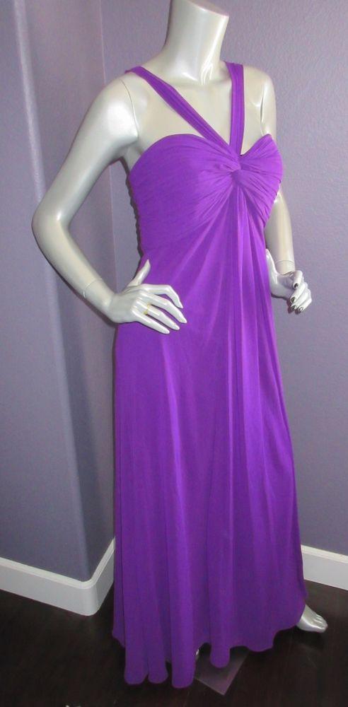 NWT LAUREN Ralph Lauren Purple Orchid Knotted Grecian Chiffon Gown ...