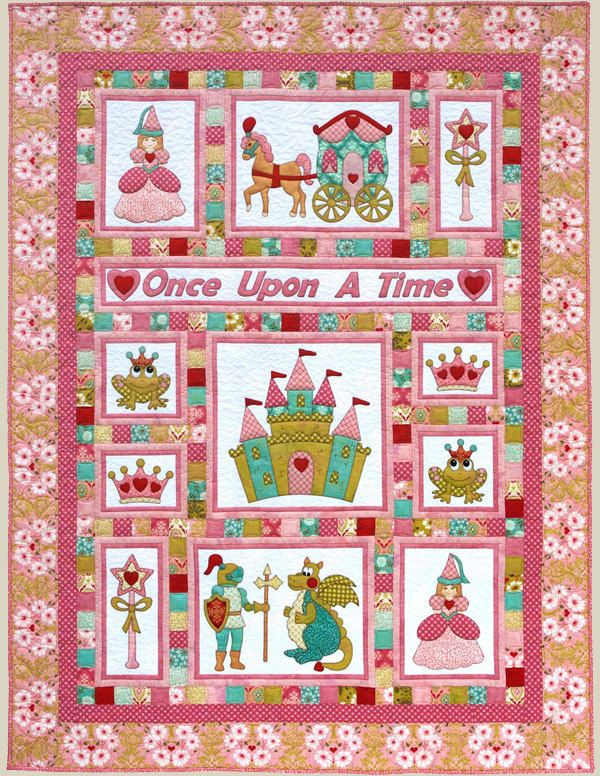 Kids Quilts Once Upon A Time Princess Fairy Tale Applique Quilt ... : fairy tale quilt patterns - Adamdwight.com