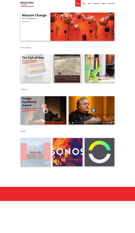 Homepage schets 3