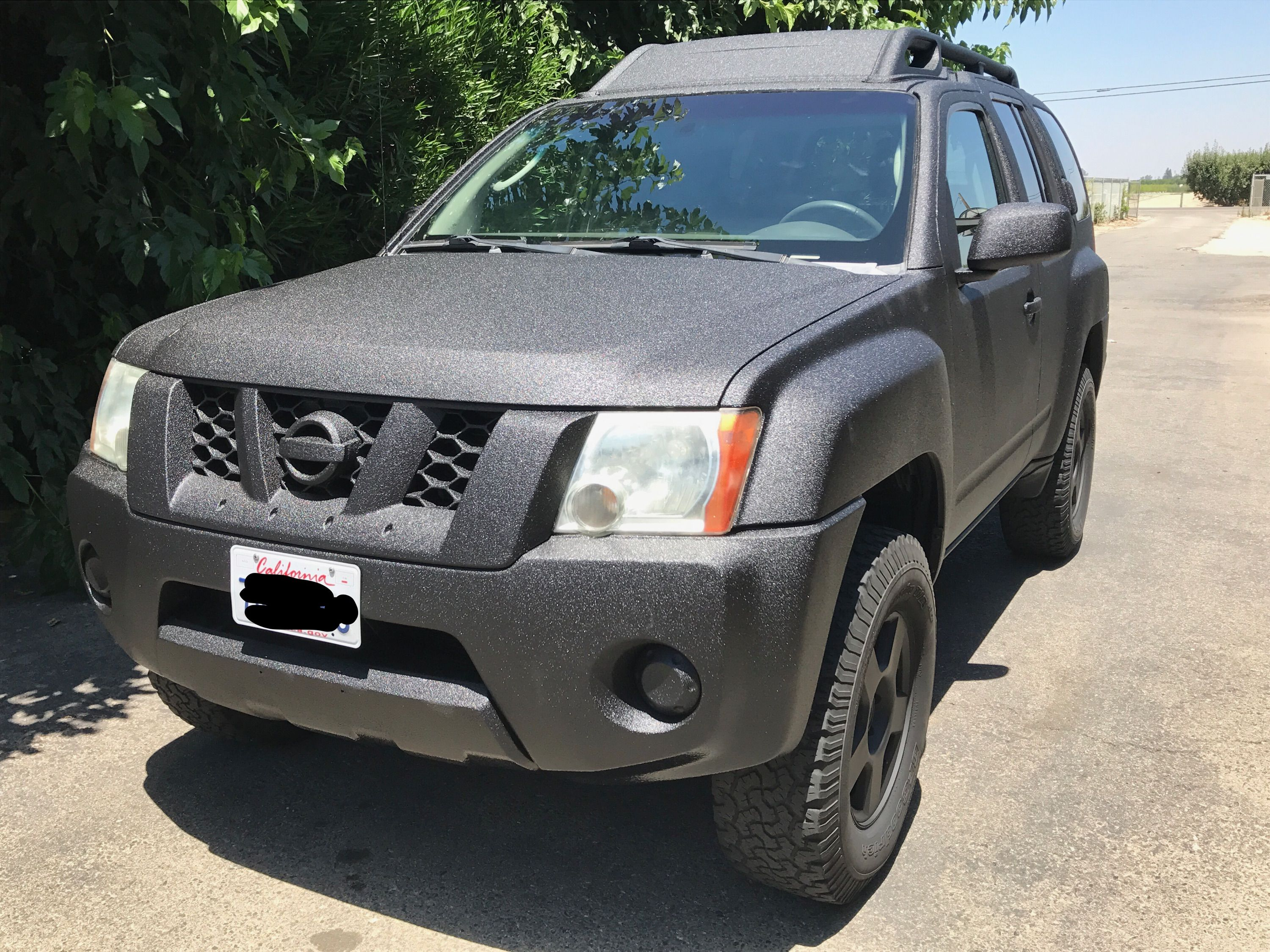 Nissan Xterra Bed lined lineX paint job Flat Black