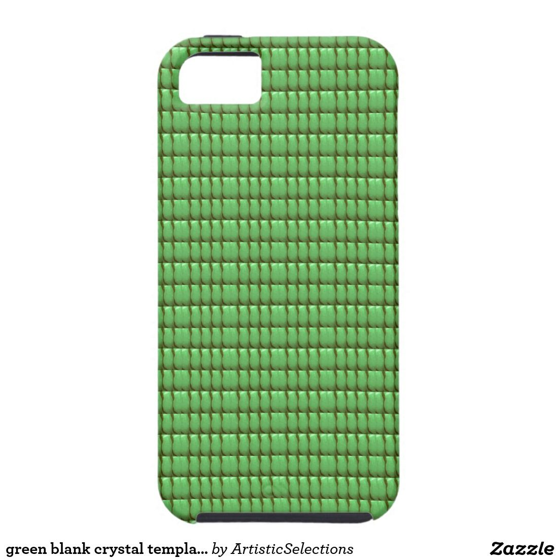 Green Blank Crystal Template Iphone Se55s Case Iphone Se