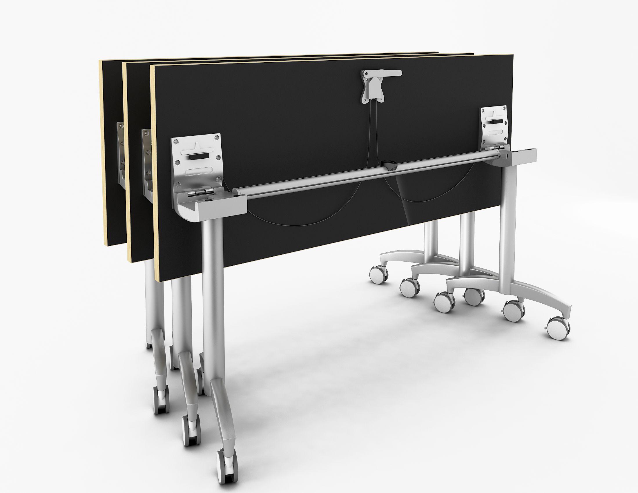 Enwork Sensation Flip Tables With Angled Legs Nested