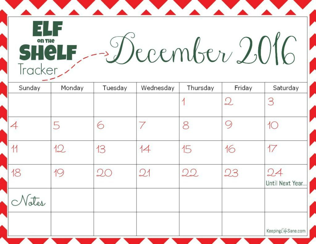 Easy Elf On The Shelf Ideas With Printable Calendar
