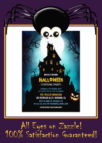 Creepy Haunted House Scary Halloween Party Invitation |  Creepy Haunted House Scary Halloween Party Invitation