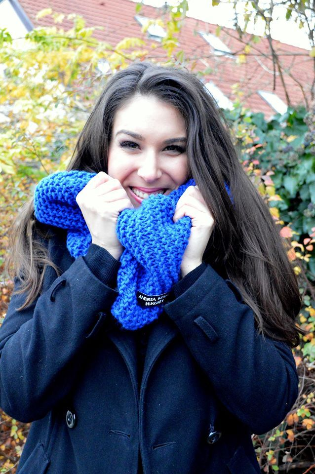 Knitted scarf F/W 2014 collection