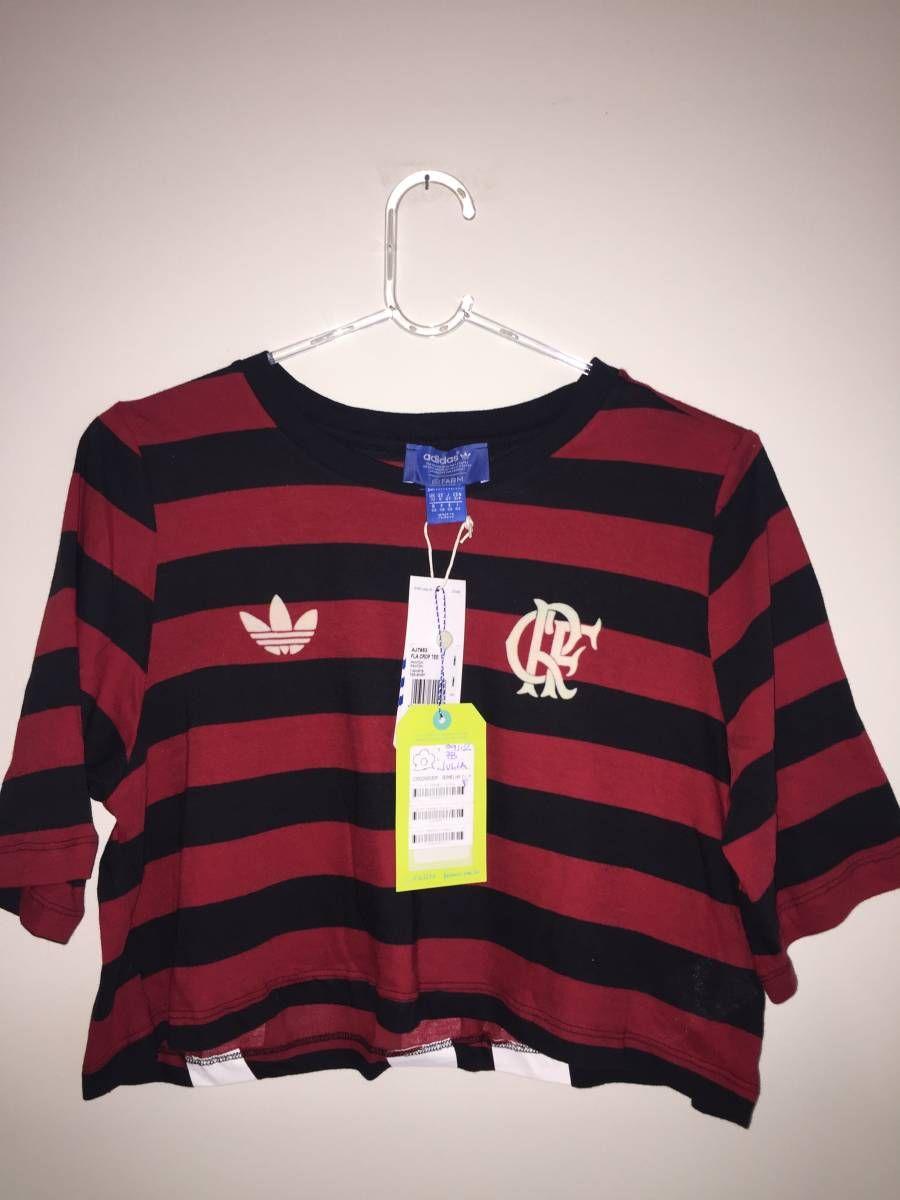 b753723fb73 camiseta cropped adidas para farm flamengo - camisetas adidas farm ...