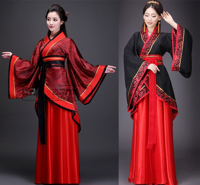 Women/'s Ruqun Hanfu Suit Cosplay Long Sleeve Dress Tang Dynasty Costume 6 Style