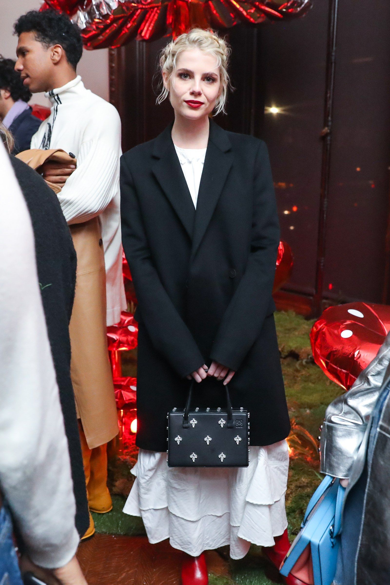 Kaia Gerber and Lucy Boynton Attended Loewe's Over the Top Holiday Party ,  #Attended #Boynton #Gerber #Holiday #Kaia #Loewes #Lucy #Party #Top