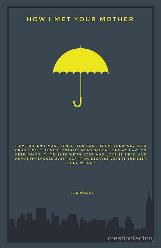 Yellow Umbrella How I Met Your Mother Poster How I Met Your Mother ...