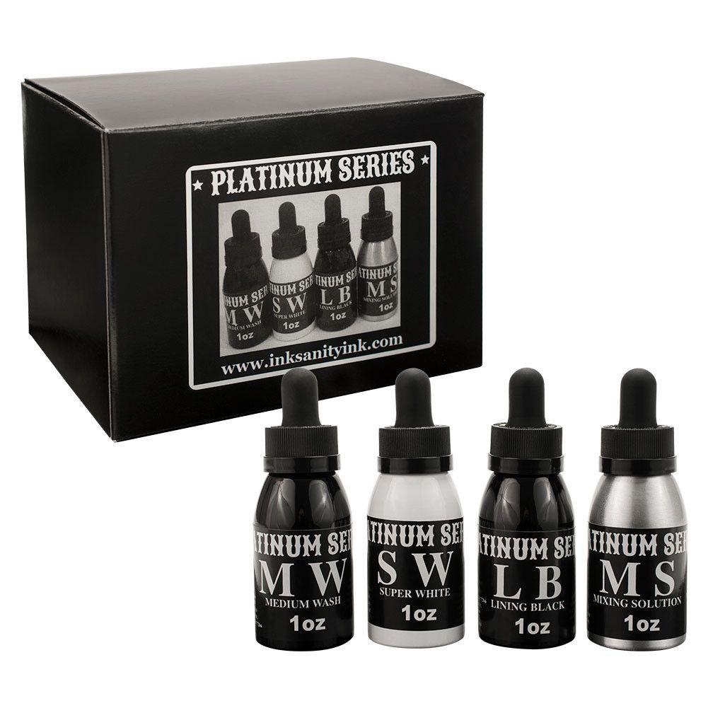Inksanity Platinum Series Tattoo Ink 4 Piece Set 1oz Bottles