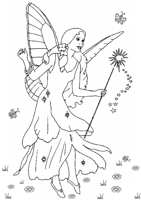 blue fairy bring apples pinocchio coloring pages pinterest kids net - Coloring Pages Fairies Kids
