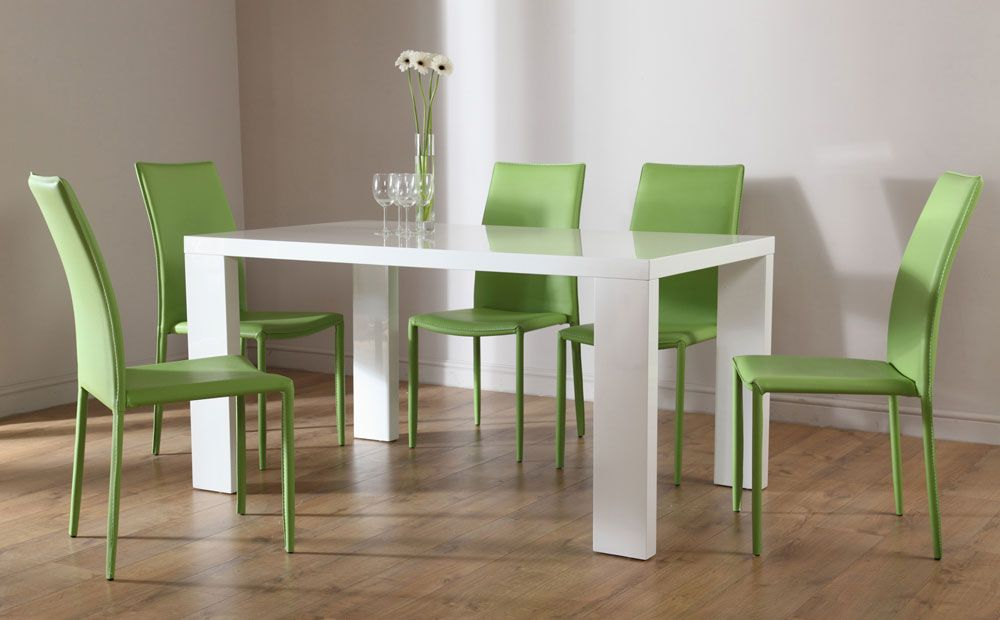 italian modern dining room table and chairs cozy style in modern furniture pinterest table and chairs red high and chairs - Green Dining Room Furniture
