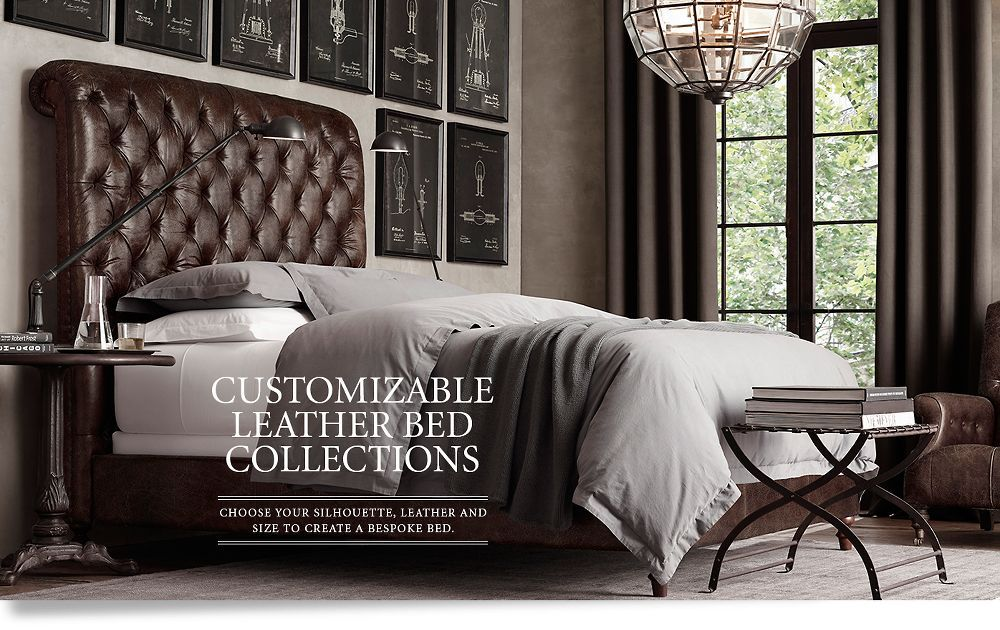 Leather Beds Restoration Hardware love the high leather