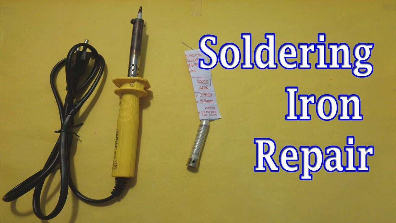 How To Rewire A Soldering Iron Soldering Iron Repair Soldering Soldering Iron Repair
