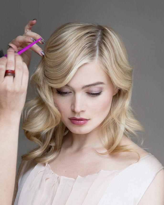 The Soft Finger Wave At Secret Agent Salon Wedding Hair