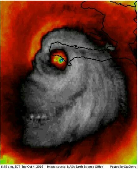 Creepy This Is A Real Satellite Image Of Hurricane Matthew Shared