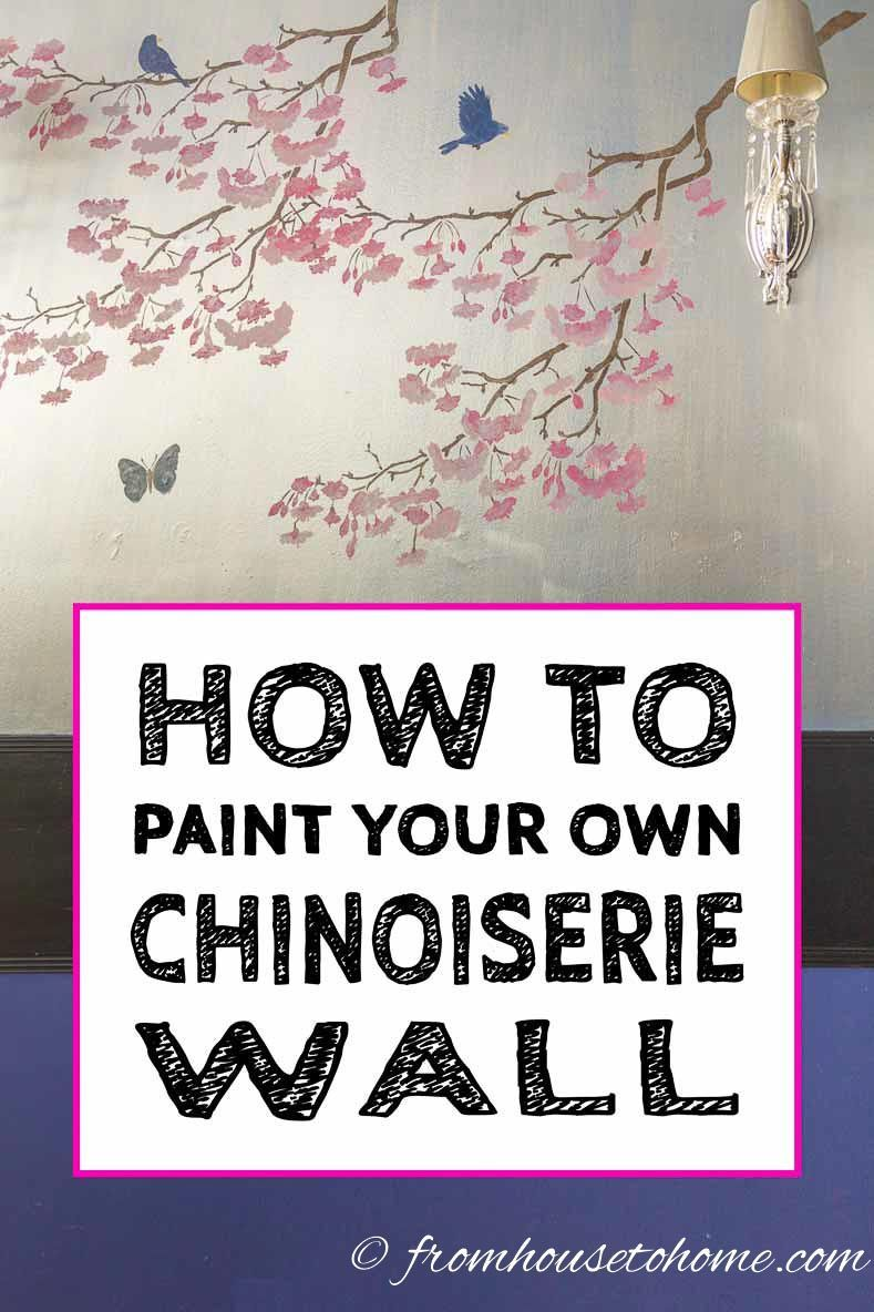 Hallway wallpaper or paint  How To Recreate DIY Chinoiserie Wallpaper On A Budget  DIY Home