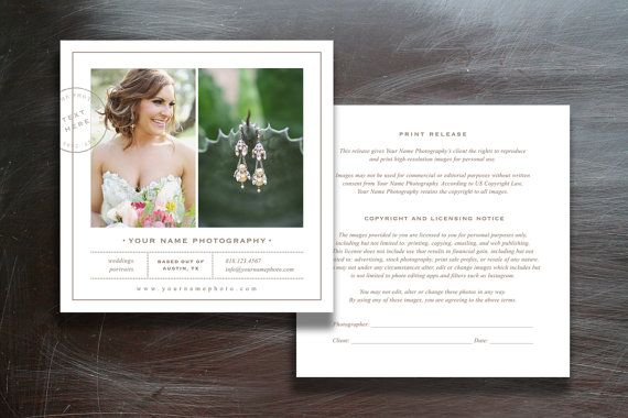 Photographer Print Release Template - Photoshop Marketing