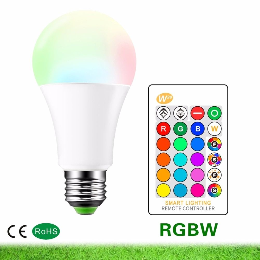 Led Lamp Ac85 265v E27 Rgb Led Bulb 3w 5w 10w Rgbw Dimmable Led Smart Lights Multiple Colour With Remote Control Led Lighting Www Ayductstore Com Dimmable Led Smart Lights Led Bulb