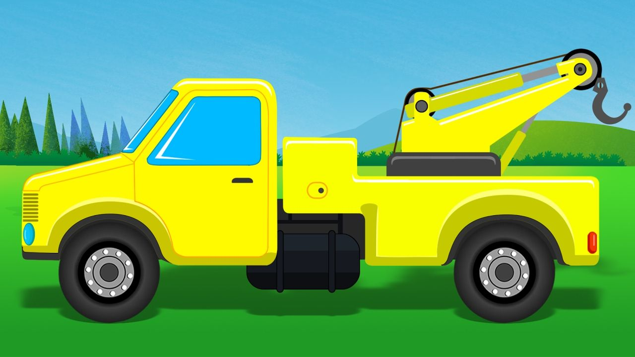 tow truck towing cars trucks for kids construction vehicle for