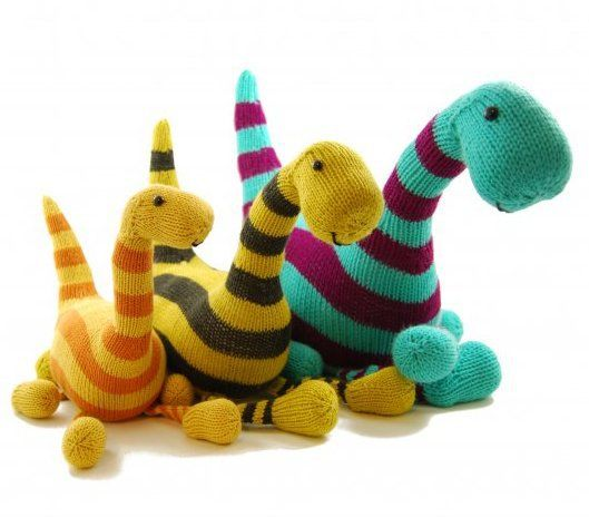Danger Crafts Basil The Brontosaurus Dinosaur Pdf Knitting Pattern