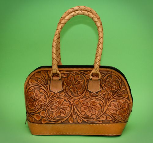 1940s 1950s Vintage Mexican Hand Tooled Leather & Solid Brass ...