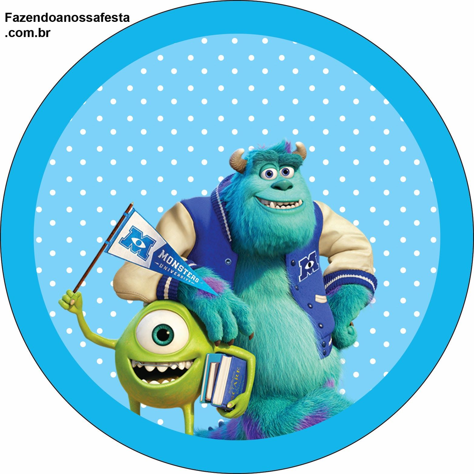 Monster University: Free Printable Labels and Toppers ...
