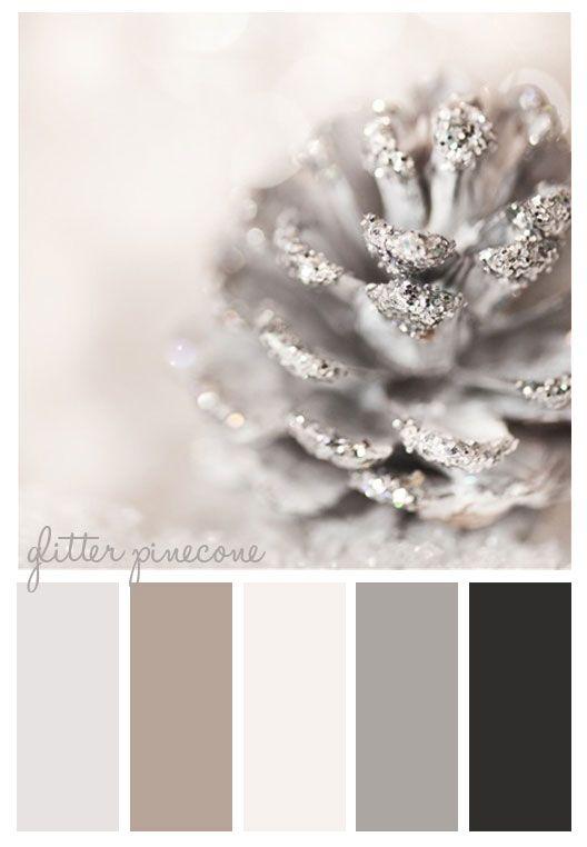 Winter Color Scheme Pinecone Color Schemes Colour Schemes Holiday Colors