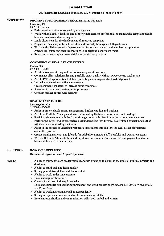 Real Estate Agent Resume Description Awesome Real Estate Intern Resume Samples Real Estate Agent Job Nanny Job Description Job Description