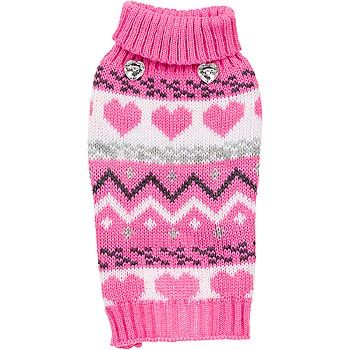 Petco Smoochie Pooch Pink Fair Isle Dog Sweater | My pets ...