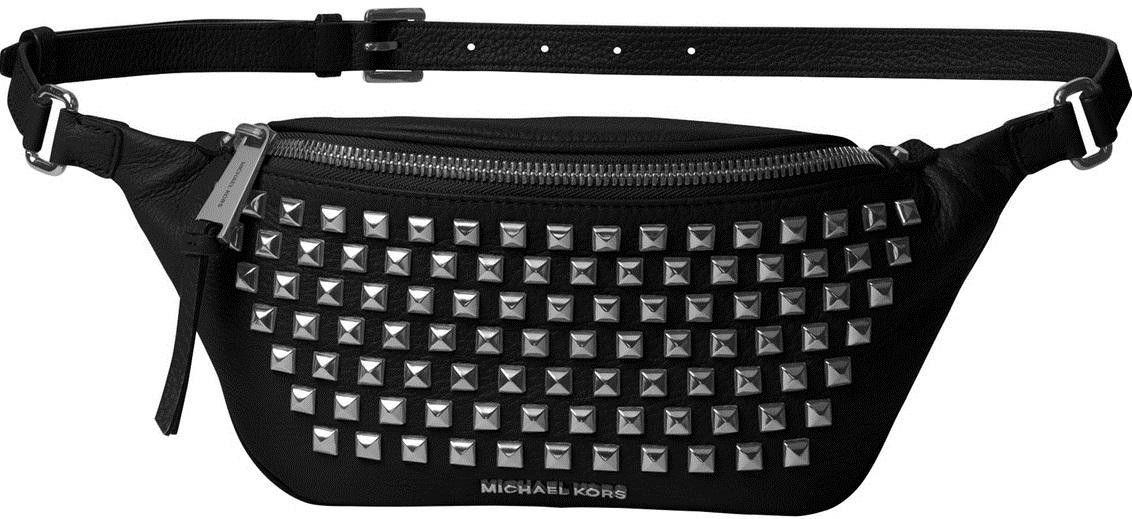 af93f51a7c320a MICHAEL KORS Rhea Leather Pyramid Studded Belt Bag | bags | 가방
