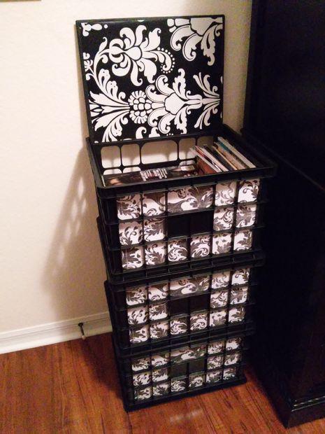 File Crate Storage Column Milk Crate Furniture Crate