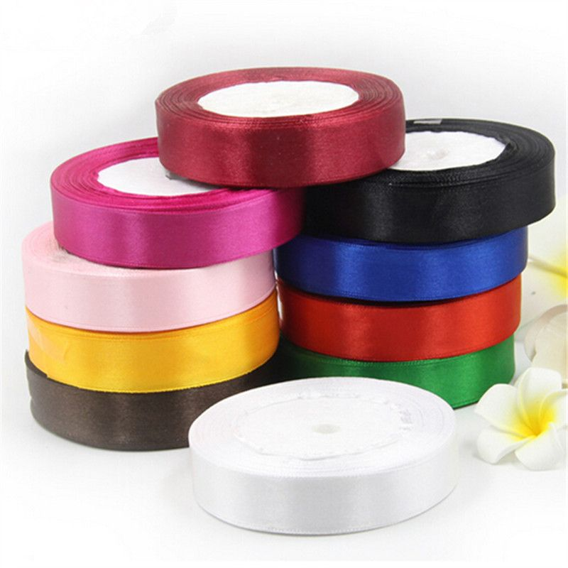 Colorful Satin Ribbon Tape Sewing Scrapbooking Craft Wedding Party Decor DIY