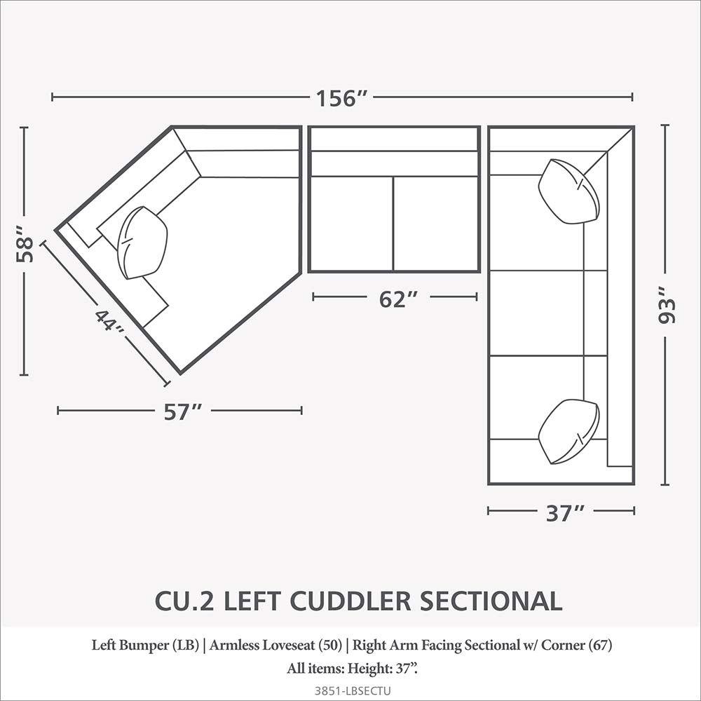 Cuddler L Shaped Sectional Cuddler Sectional Bassett Furniture