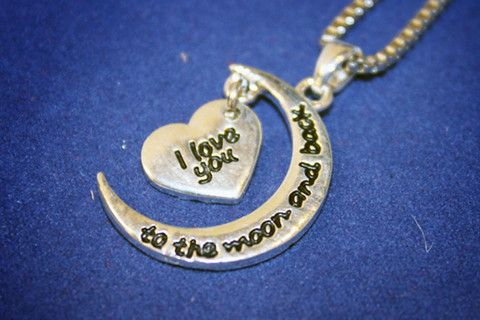 Moon & Back 2 Piece Necklace   Six Shooter Gifts