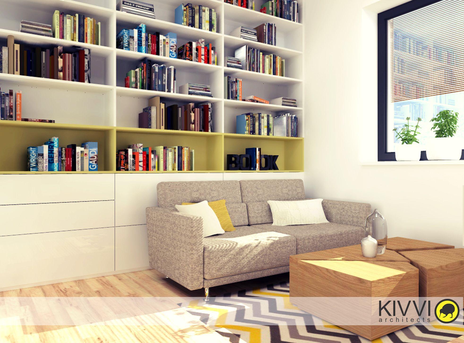 Návrh interiéru pracovne Interiérov½ dizajn od Kivvi