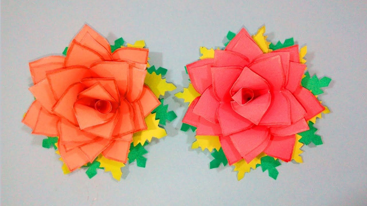 How To Make Paper Rose Flowers Very Easy And Simple To Make