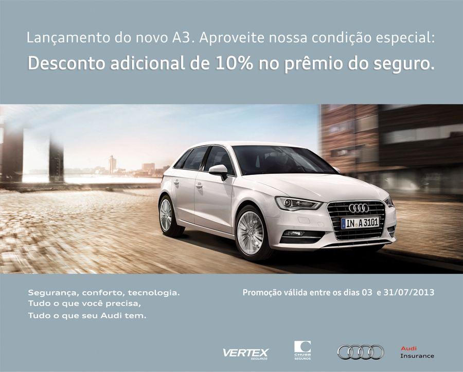 Flyer de lançamento do novo Audi A3