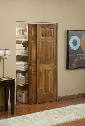 Space Saving Door deck your halls with smooth-operating, space-saving sliding closet