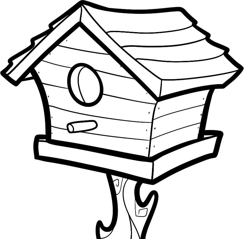 Free Printable House Coloring Pages For Kids | House ...