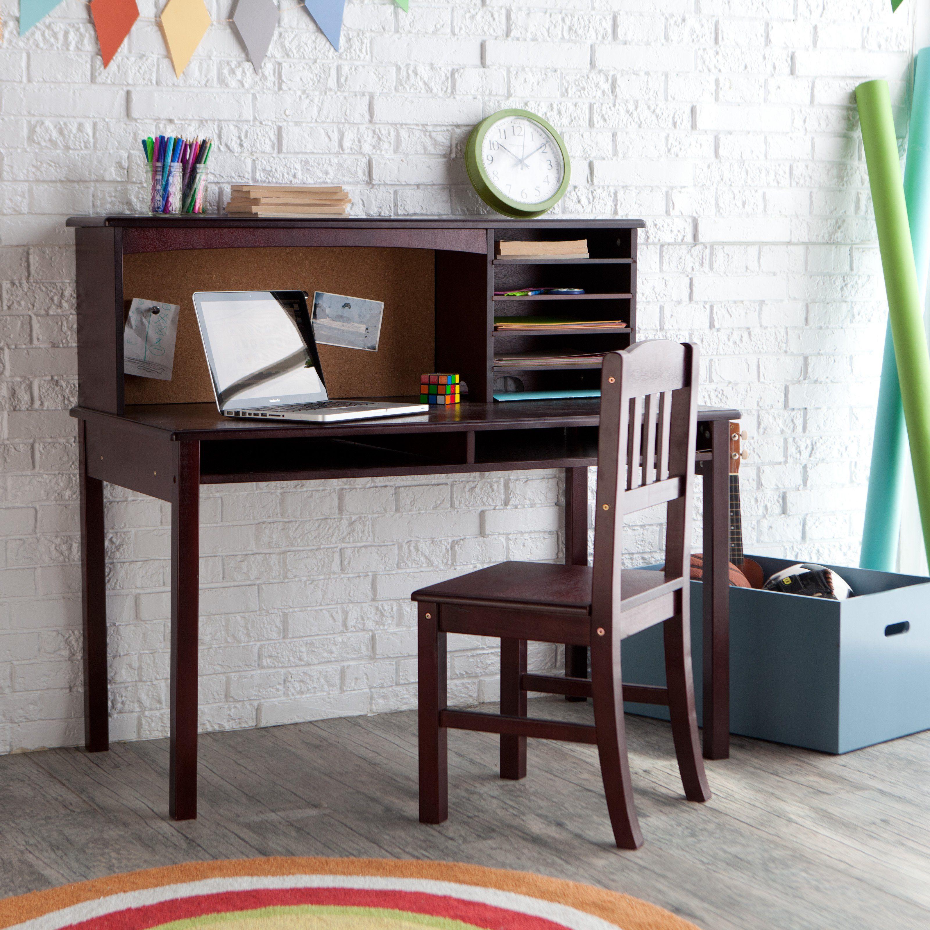 Guidecraft Media Desk Chair Set Espresso Www Hayneedle Com Desk And Chair Set Best Home Office Desk Childrens Desk And Chair