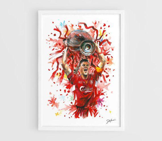 Steven Gerrard  Liverpool FC   A3 Art Prints of the by NazarArt, $20.00