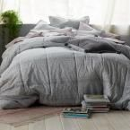 Photo of Cstudio Home by The Company Store Basket Geo 3-Piece Gray Cotton Percale King Comforter Set 40097C-K-GRAY – The Home Depot